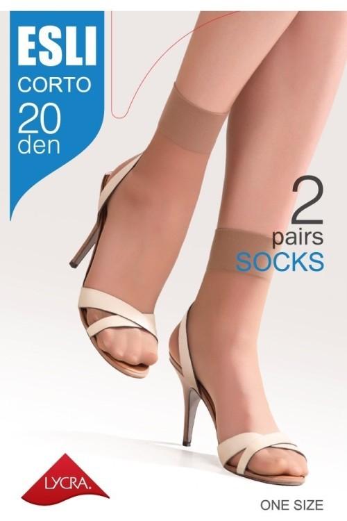 6e78c8eb5cbf8 Женские носки Esli Corto 20 Den, полиамидные, носочки, ЕСЛИ, Конте ...